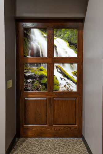 Digitally Printed Glass Door