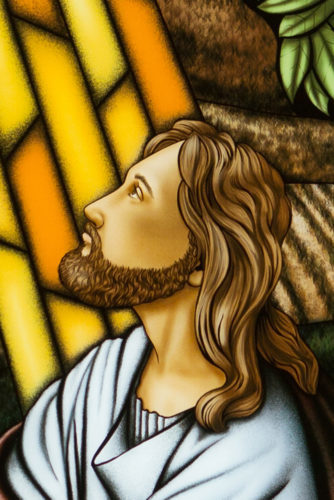 Digitally Printed Stained Glass (Jesus)