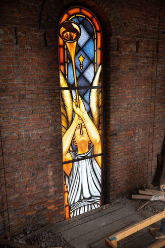 Digitally Printed Stained Glass Angel